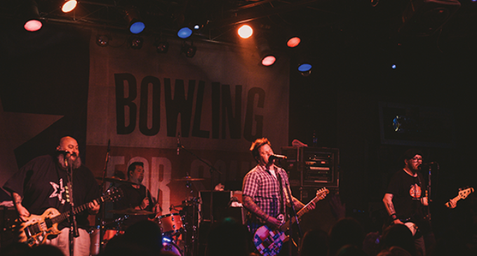 Bowling for Soup records video at local bar