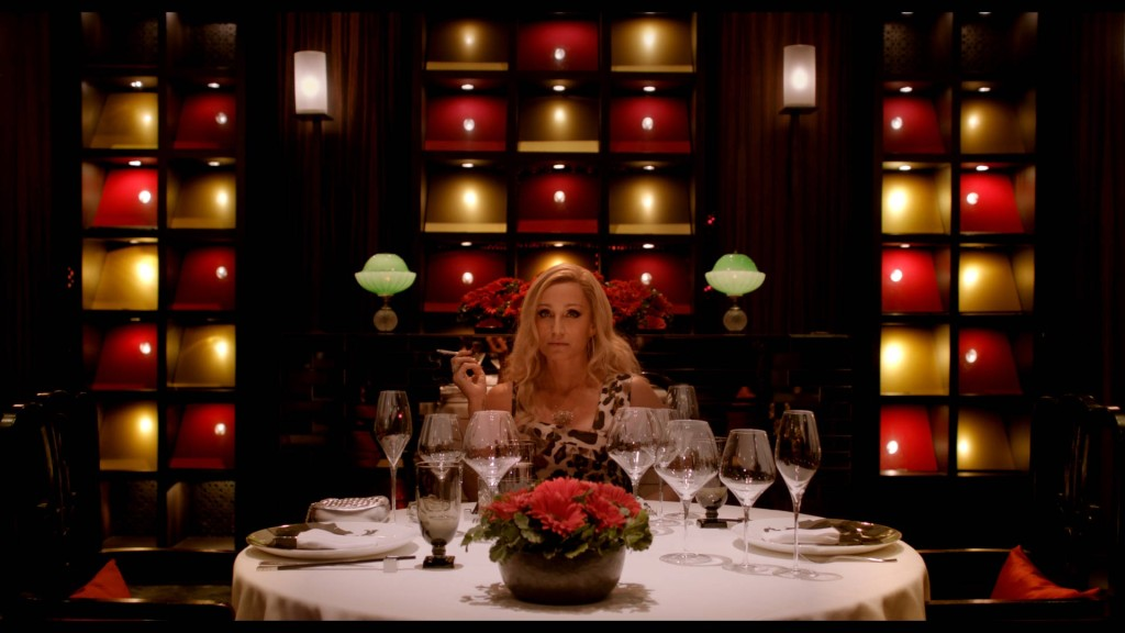 Kristin Scott Thomas plays Crystal, a merciless and terrifying mafia godmother. Photo courtesy of RADiUS-TWC.
