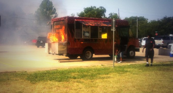 Fired Up: Food truck in flames and gun rights group at Denton Community Market