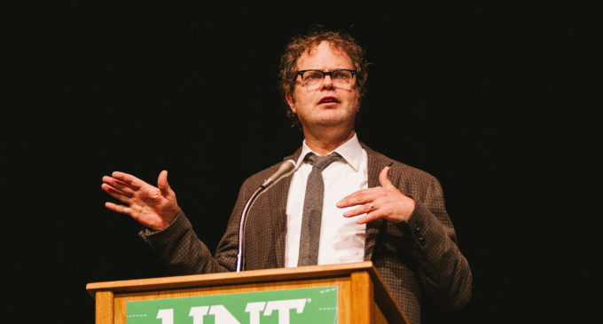 Rainn Wilson raised questions, provided possible answers