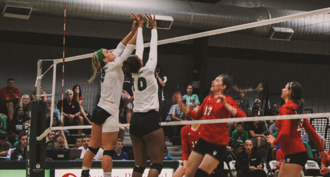 Mean Green volleyball splits day one of home invitational