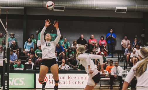 Volleyball team smashes DFW rival in home opener