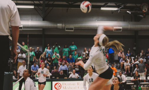Mean Green volleyball beats UTA