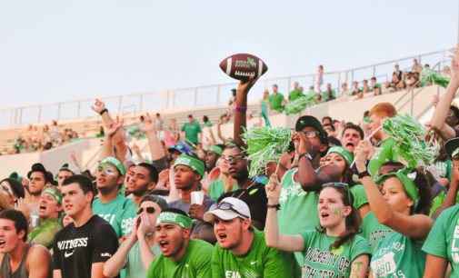Student support for Mean Green football growing slowly
