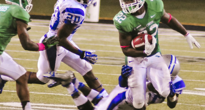 Strong running game leads UNT football to victory