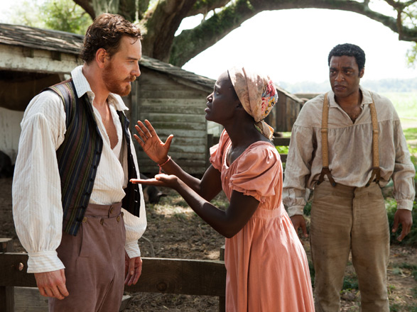 """Michael Fassbender, Lupita Nyong'o and Chiwetel Ejiofor star in """"12 Years a Slave."""" Photo courtesy of Fox Searchlight Pictures."""
