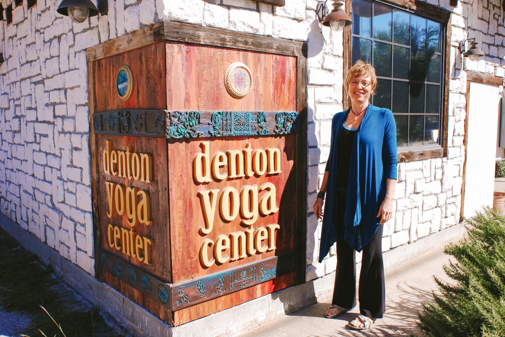 Owner of Denton Yoga Center Becky Klett. The Denton Yoga Center is located at 118 W. Congress Street. Photo by Larissa Mathews / Intern Photographer