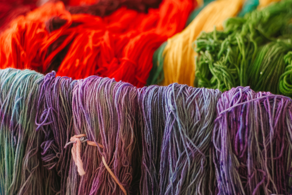 Freshly dyed yarn layed out to dry. Photo by Au'Janae Roberts / Contributing Photographer