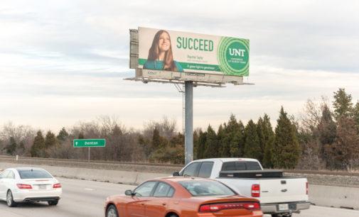 UNT billboards target current, potential students