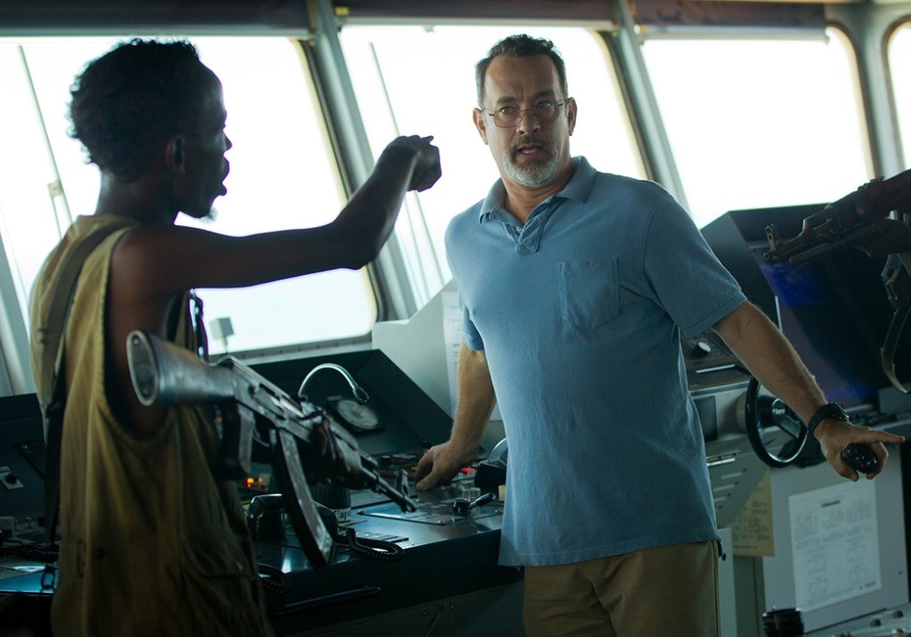 """Oscar-nominee Barkhad Abdi and Tom Hanks in """"Captain Phillips."""" Photo courtesy of Columbia Pictures."""
