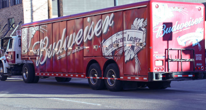 Denton roads blocked by beer delivery trucks