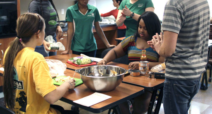 Students learn to cook healthy, inexpensive meals