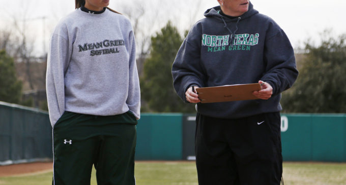Mean Green softball splits season opening double-header