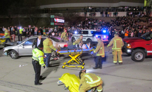 SGA simulates wreck for drunk driving awareness