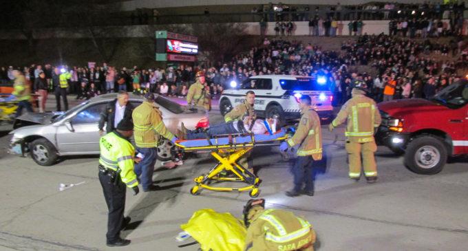 SGA simulates wreck for drunk driving awareness