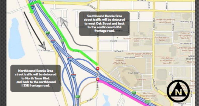 Brief: I-35E access roads subject to nightly closing for construction project