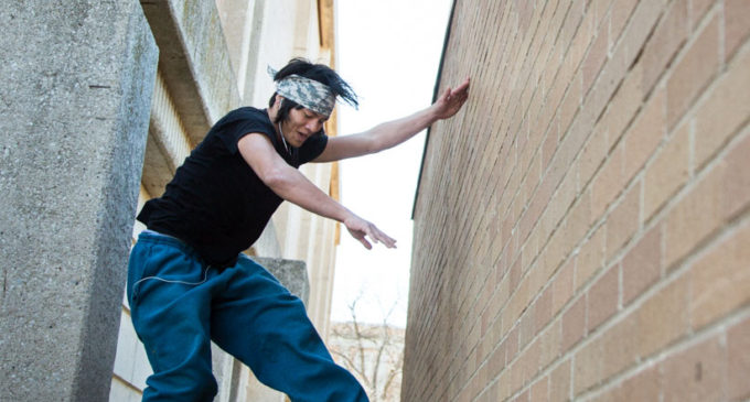 Jump start: new UNT student brings parkour to campus