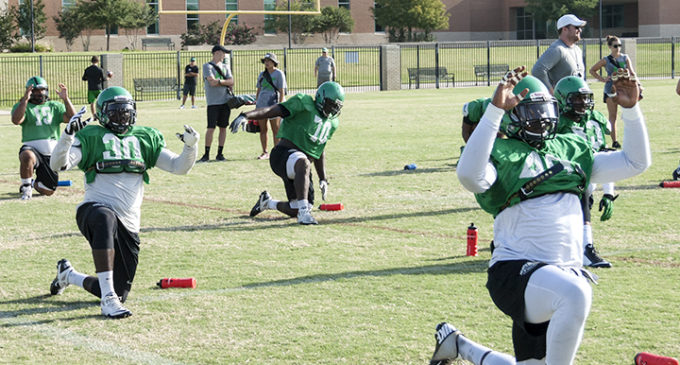 Recruiting class adjusting to rigors of North Texas football