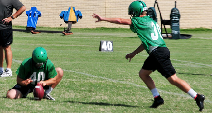 Freshman kicker steps into key role on team