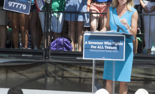 Wendy Davis shares political plans and personal stories during on-campus rally