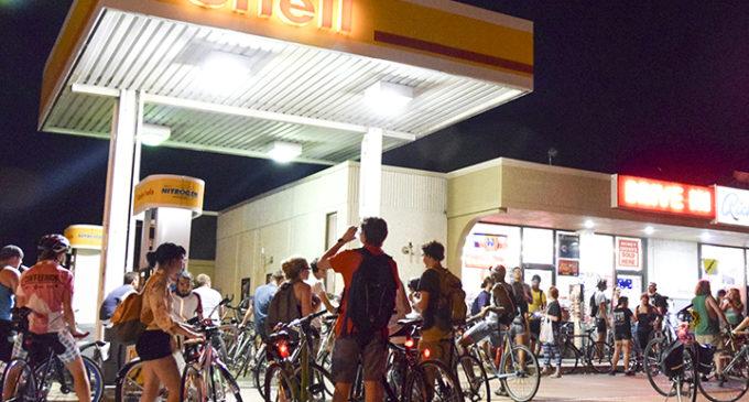 Tuesday night bike ride through Denton