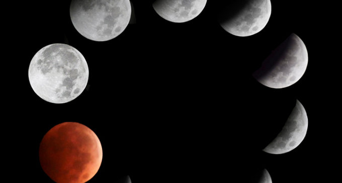 Red side of the moon: eclipse over North Texas