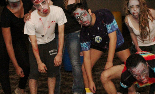 Laser tag goes 'Walking Dead' in Gateway Ballroom