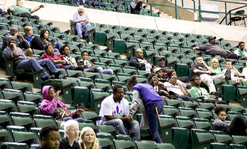 Basketball teams deal with low attendance