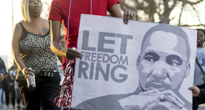 Denton marches for Martin Luther King Jr. Day
