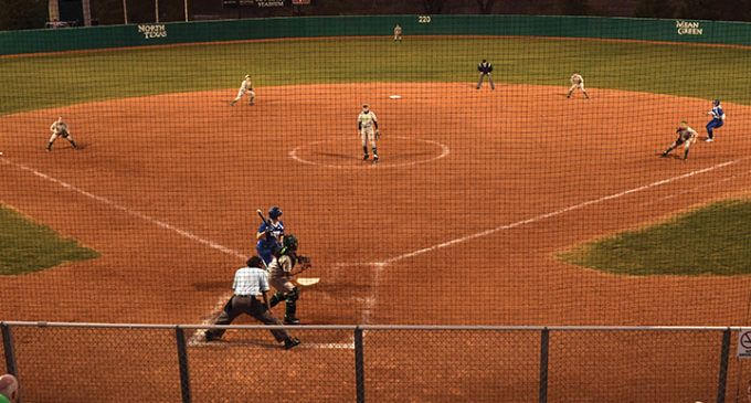Sisters reunite on Mean Green softball team