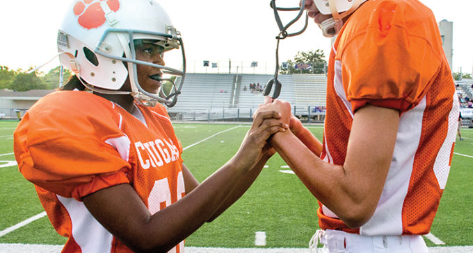 Local girl tackles gender norms in football