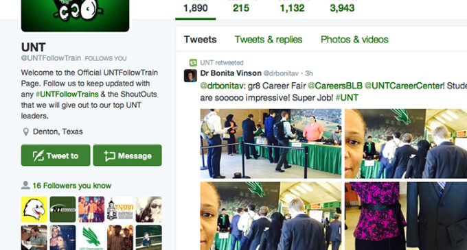 Students climb aboard the Twitter follow train