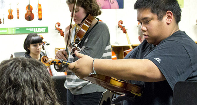 Students sharpen their talents in symphony