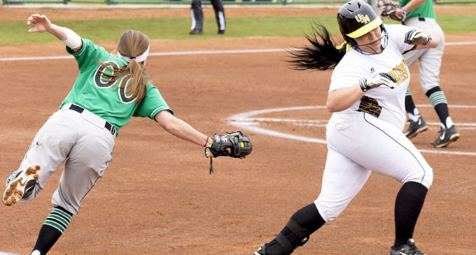 Softball splits season opening double header