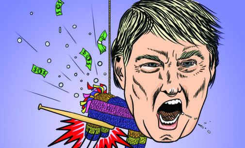 Cartoon: 'I will win the Latino vote'