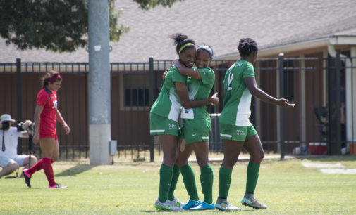 Soccer team beats in-state rival Houston 3-0