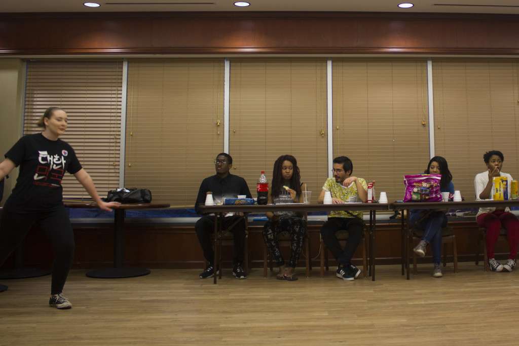 Korean Culture Exchange members judge the auditions held Sept. 17, 2015 at the Honors Hall Ballroom. Paulina De Alva | Staff Photographer