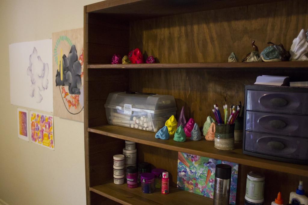 Devin Anderson spent $50-75 on art supplies every week his freshmen year. Paulina De Alva | Staff Photographer