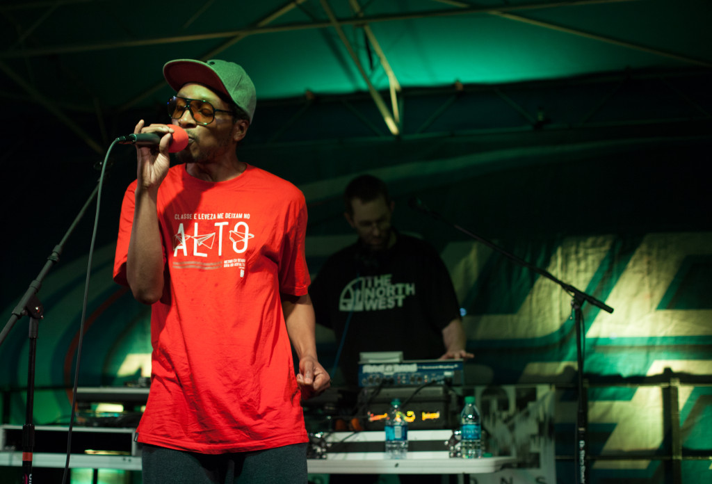 Del the Funky Homosapien performed day two of last year's Oaktopia Music Festival. Del perfomed later then expected due to misplaced mixers. James Coreas | Contributing Photographer