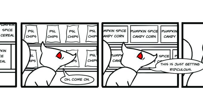 Comics: Squirrels on Campus – Pumpkin Squirrel Latte