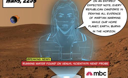 Cartoon: Water on Venus