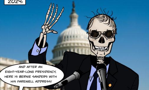 Cartoon: Boney Sanders for President