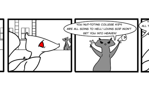 Comics: Squirrels on Campus – Nut-toting heathens