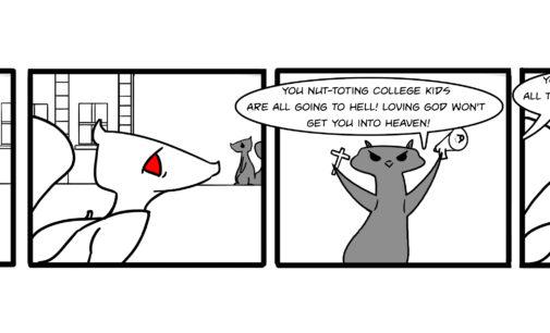 Comics: Squirrels on Campus – Nut-toting heathens
