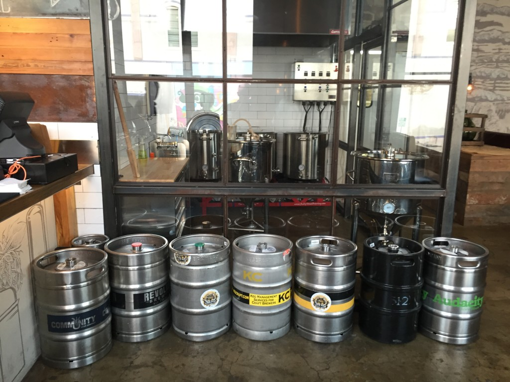 The homebrew station in Barley & Board hosts an array of local beers. Nicholas Friedman | Editor-In-Chief