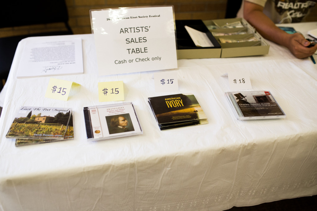Artists performing at the festival had CDs on sale throughout the event.