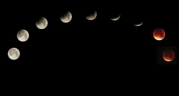 More than 1,000 at UNT planetarium view supermoon lunar eclipse