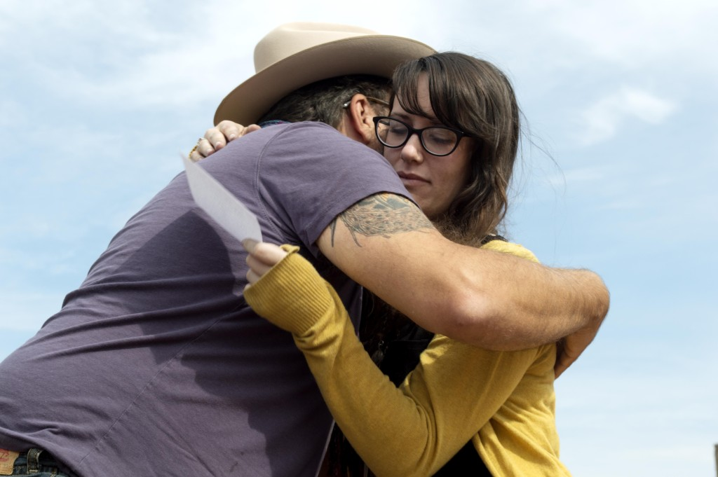 David Lawson hugs Mattie Counts after she tells him about her recent  breakup on Oct. 17. Haley Yates  Staff Photographer