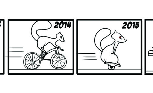 Comics: Squirrels on Campus – Getting Around