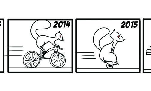 Comics: Squirrels on Campus – Getting Around